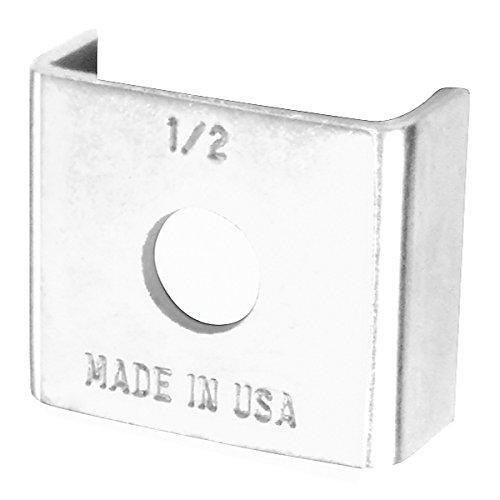 (10 Pcs, U Strut Washer, 1/2-13 Bolt Size, Zinc Plated Steel to Secure Strut Fittings & Channel w/Nuts)
