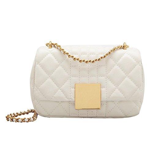 ZHANGJIA Sac, ma Fille, Peu Vent, Wild Style, vers la Sacoche, Mode, Simple, Mini chaîne Sac, Sac de Diamants. pearl white