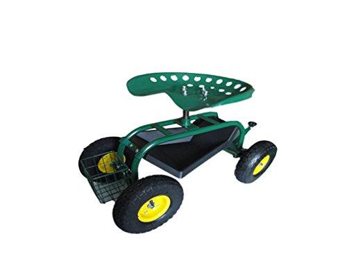 Gartenwagen Rollwagen Gartenhelfer Fahrbarer Gartensitz Scooter Rollsitz Gärtner Pötschke Garten-Scooter grün