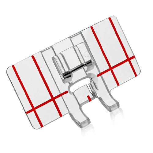 ZIGZAGSTORM BLDY-BGF, JAG605 Border Guide Presser Foot for All Low Shank Snap-On Singer,Brother,Babylock,Euro-Pro,Janome,Kenmore,White,Juki,Janome(New Home),Simplicity,Elna Sewing Machine 605 (Euro Pro Sewing Machine Parts)