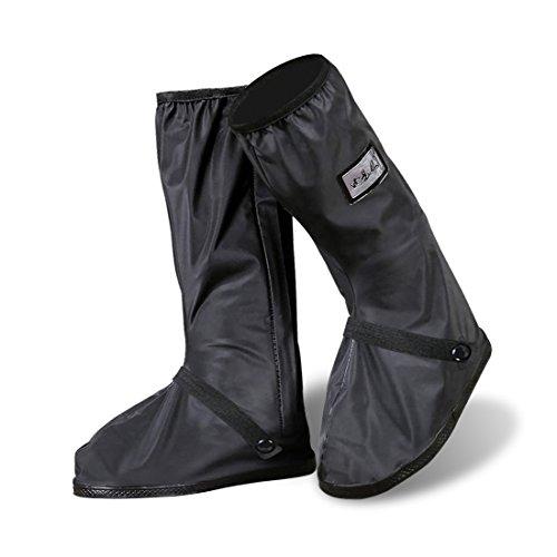 YMTECH Impermeable y antideslizante Cubierta del zapato, Cubiertas para zapatos Negro1