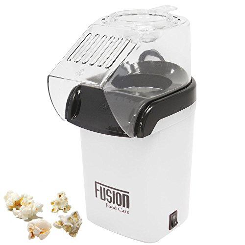 White 1200W Electric Hot Air Popcorn Maker Healthy Fat & Oil Free