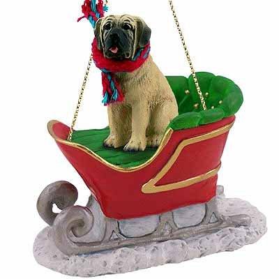 Mastiff Ornaments - Mastiff Sleigh Ride Christmas Ornament