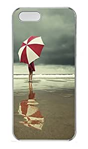 iPhone 5 5S Case Umbrella At The Beach PC Custom iPhone 5 5S Case Cover Transparent