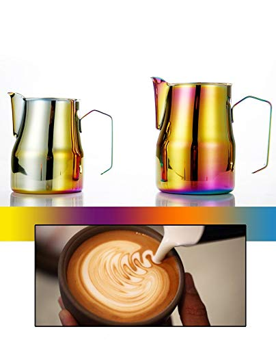 Colorful Stainless Steel - Coffee Pitcher Espresso Latte Frothing Pitcher Milk Frothing Jug - Coffee Latte Milk Frothing Jug Pitcher- 700ml - Coffee & Tea Tools-Coffee - Tea Electric Faberware Kettle