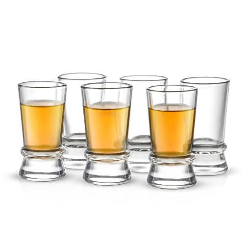 JoyJolt Afina Heavy Base Shot Glasses (Pack of 6) - 1.5-Ounces