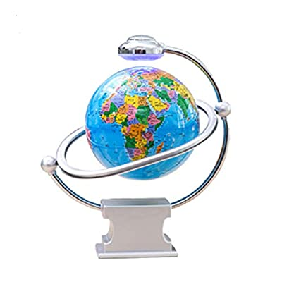 "STARAYS Magnetic Levitation Globe, 8"" Rotating World Map with LED Light Educational Tools Birthday Gift, Blue: Home & Kitchen"