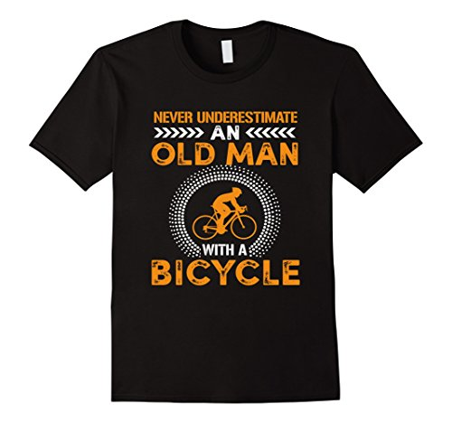 Funny Never Underestimate Old Man With Bicycle Gift Tshirts