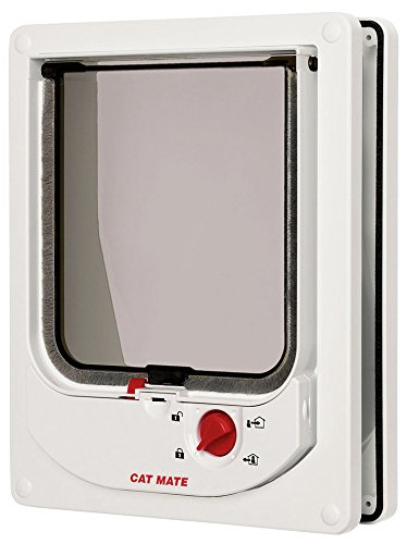 Cat Mate Electromagnetic Cat Flap White 41Mi2UTqhnL