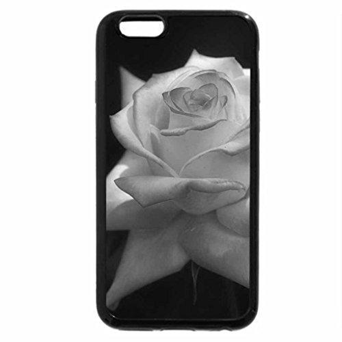 iPhone 6S Case, iPhone 6 Case (Black & White) - Crispy rose