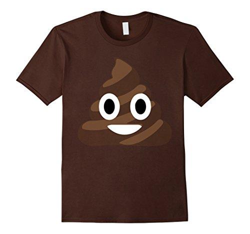 Mens Funny Halloween Poop Emoji Costume T-Shirt XL Brown