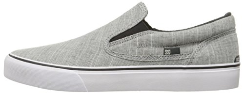 DC Shoes Men's Trase Slip-On TX Low Top Sneakers gris