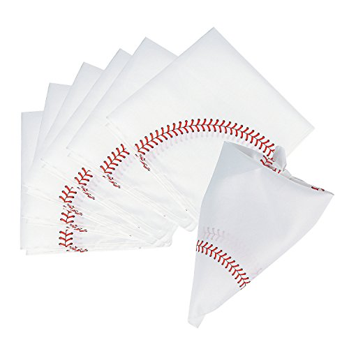 Fun Express - Baseball Bandana - Apparel Accessories - Hats - Bandannas - 12 Pieces