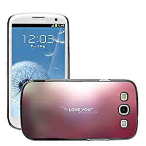 Hot Style Cell Phone PC Hard Case Cover // M00044210 artistic love say typography // Samsung Galaxy S3 i9300