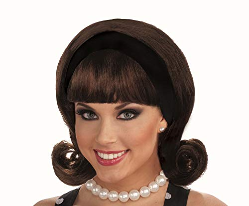 Forum Novelties Women's Flirting with The 50's Costume Wig, Brown, One Size (Forum Novelties Wig)