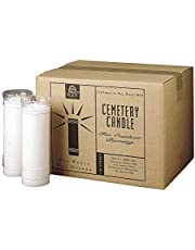 Root Candles 7-Day Devotional Vela Cemetery Memorial Candles, Clear