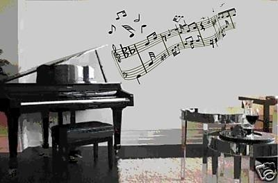 Music Notes Wall Mural Decal Sticker Home Decoration Music Decorations For Bedroom Amazon Com