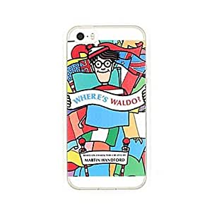 ZXSPACE Colorful Where's Wally Transparent Soft Case for iPhone 5/5S , Transparent