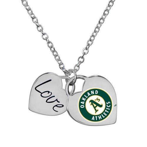 (Oakland Athletics MLB Ladies Heart Necklace)