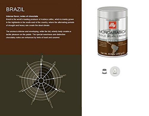 Illy Monoarabica Whole Bean, Single Origin Brazil Coffee Beans 8.8 Ounce (Pack of 6) by Illy (Image #2)
