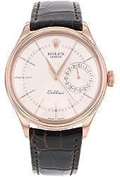 Rolex Cellini Date 50515 SBR 18K Rose Gold Automatic Men's Watch
