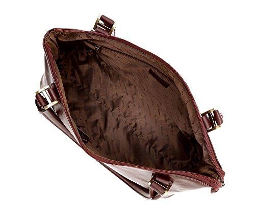 Wittchen Borsa classica, Borgogna - Dimensione: 21x37cm - Materiale: Pelle di grano -Accomoda A4: Si - 35-4-051-2