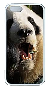 Animals 024 TPU Silicone Case Cover for iPhone 5/5S White