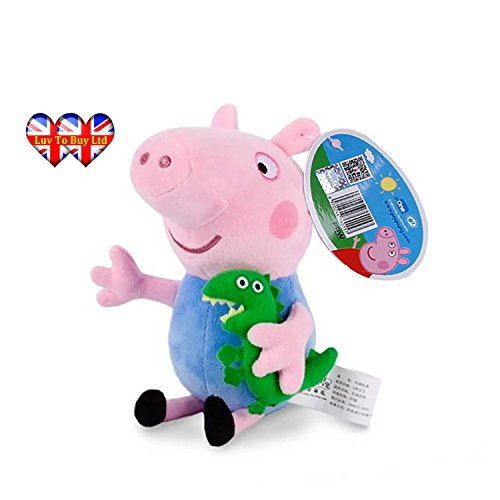 Peppa Pig Characters,Original Soft Toys:Daddy,Mummy,Peppa &George Pig Available (George (George Pig Costumes)
