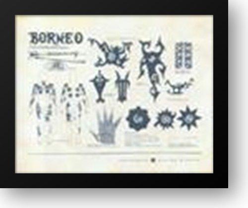 Tattoos of Borneo 24x20 Framed Art Print (Borneo Tattoo)