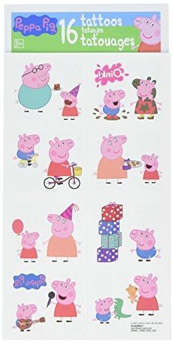 Peppa Pig Children's Temporary Tattoos Gift Pack