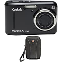 Kodak PIXPRO FZ43 16 MP Digital Camera, 4X Optical Zoom, 2.7 LCD (Black) Bundle