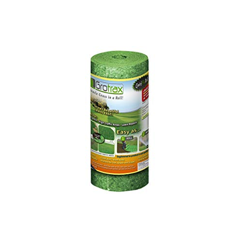 Quick Seed Grass Grow (Grotrax | Quick Fix Roll | All-in-One Bermuda Grass Seed Mat Roll | Great for Lawn Spots, High Traffic Areas and Lawn Repairs | Ideal for Hot and Drought Conditions | As Seen On TV | 50 SQFT)