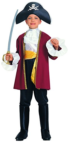 [Courageous Captain Child's Costume, Small] (Toddler Boys Pirate Costumes)