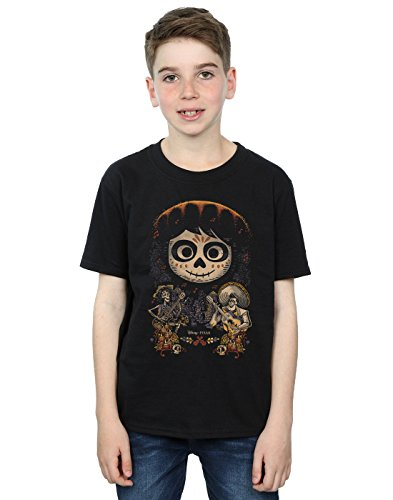 Disney Boys Coco Miguel Face Poster T-Shirt 12-13 Years Black (Face Posters)