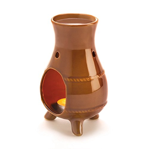 Old World Style Glossy Ceramic Earthen Oven Oil Warmer by Gifts & Decor