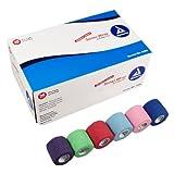 Dynarex Sensi Wrap, Rainbow Color, 2-Inch X 5 Yards, 36 Count