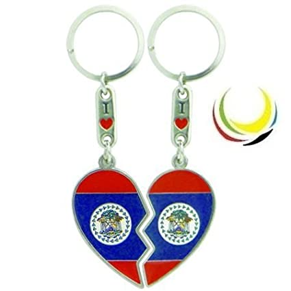 Keychain BELIZE HEART