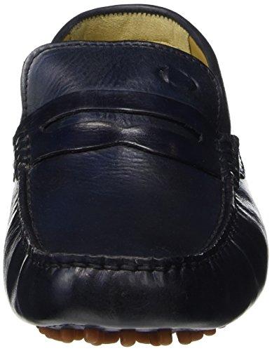 Base London Heren Morgan Washed Driving Shoe (rb01408) Navy