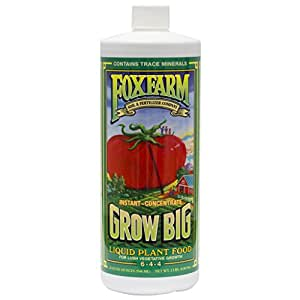FoxFarm FX14006 1-Quart FoxFarm Grow Big Liquid Concentrate 6-4-4