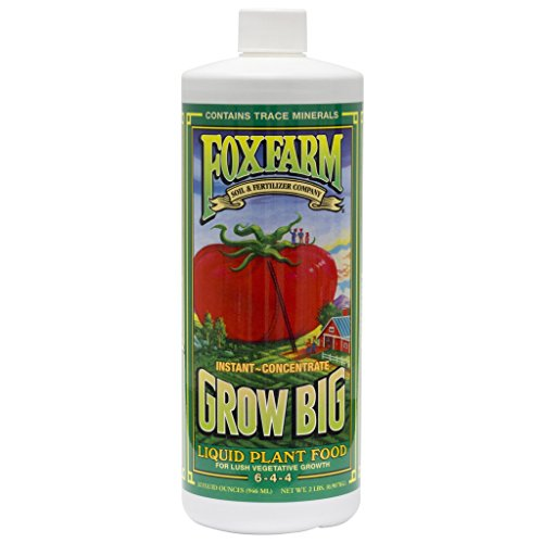 Fox Farm 752289790201 FX14006 1-Quart Grow Big Liquid Concentrate 6-4-4, Blue ()