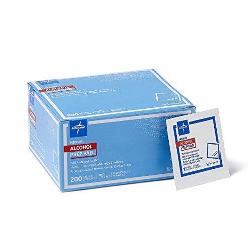 (Medline Sterile Medium Prep Pads 70% Isopropyl Alcohol Antiseptic 200 Count)