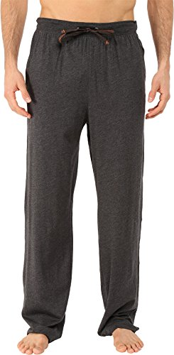 Tommy Bahama Men's Heather Cotton Modal Jersey Lounge Pants, Black Heather, ()