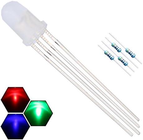 plus 6000mcd mate//difuso: 4 pin escindido Gem 25 unidades LED 5mm RGB +