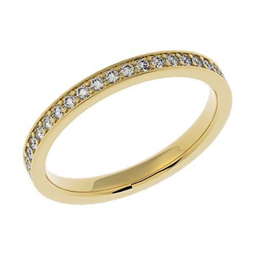 UK Hallmarked Yellow Gold & 0.40 Carat Diamonds Set Full Eternity Ring Size...