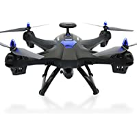 Brushless Quadcopter Drone- Ruhiku GW Global Drone 6-axes X183 With 2MP WiFi FPV HD Camera GPS Brushless Quadcopter (Black)