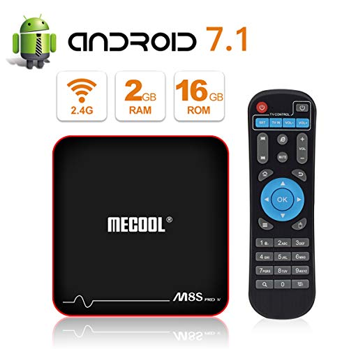 MECOOL M8S PRO W Android 7.1.2 TV Box with 2GB RAM 16GB ROM Amlogic S905W Quad core, Best Android UI,HD 4K Internet Media Players
