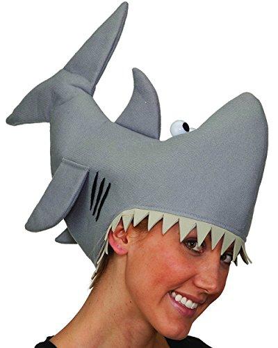 Jacobson Hat Company Grey Shark Hat, Grey, (Shark Costume Accessories)