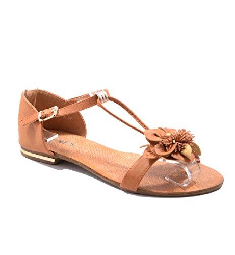 Jumex Sandalen Sandaletten Flats Sommerschuhe Strandschuhe Abendschuhe SexY Heiss Viele Modelle 3HPL-7834 CAMEL