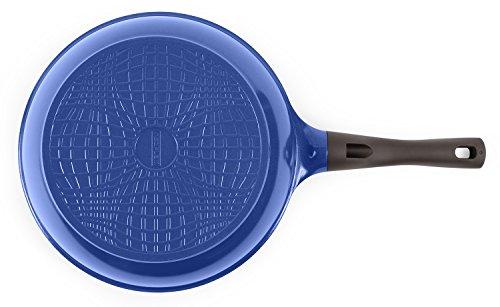 Neoflam PerfecToss Ceramic Nonstick Frying Pan, Berry Blue