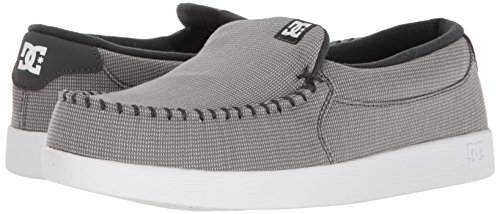 DC Men's Villain TX Skateboarding Shoe, Grey/White, 12 D US